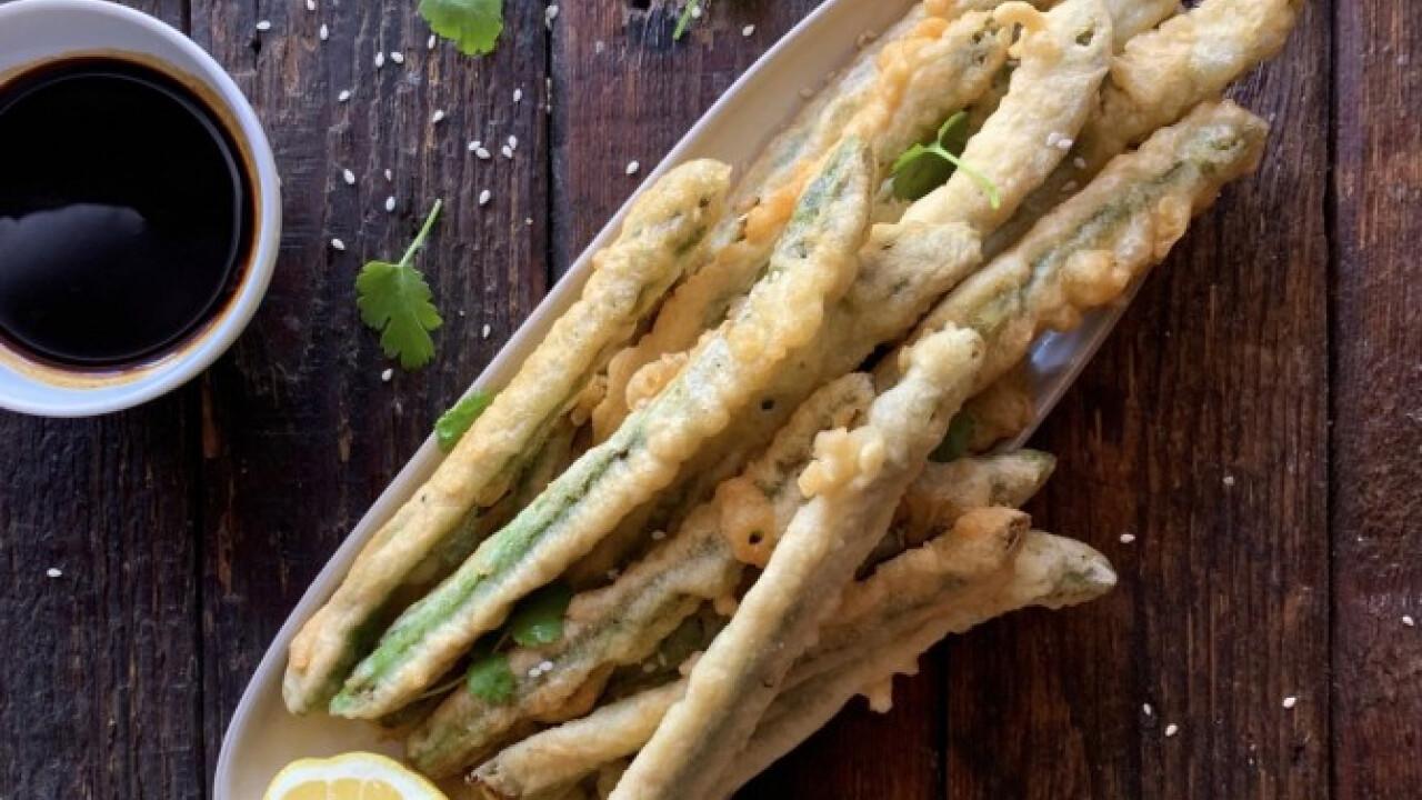 Gyors spárga tempura
