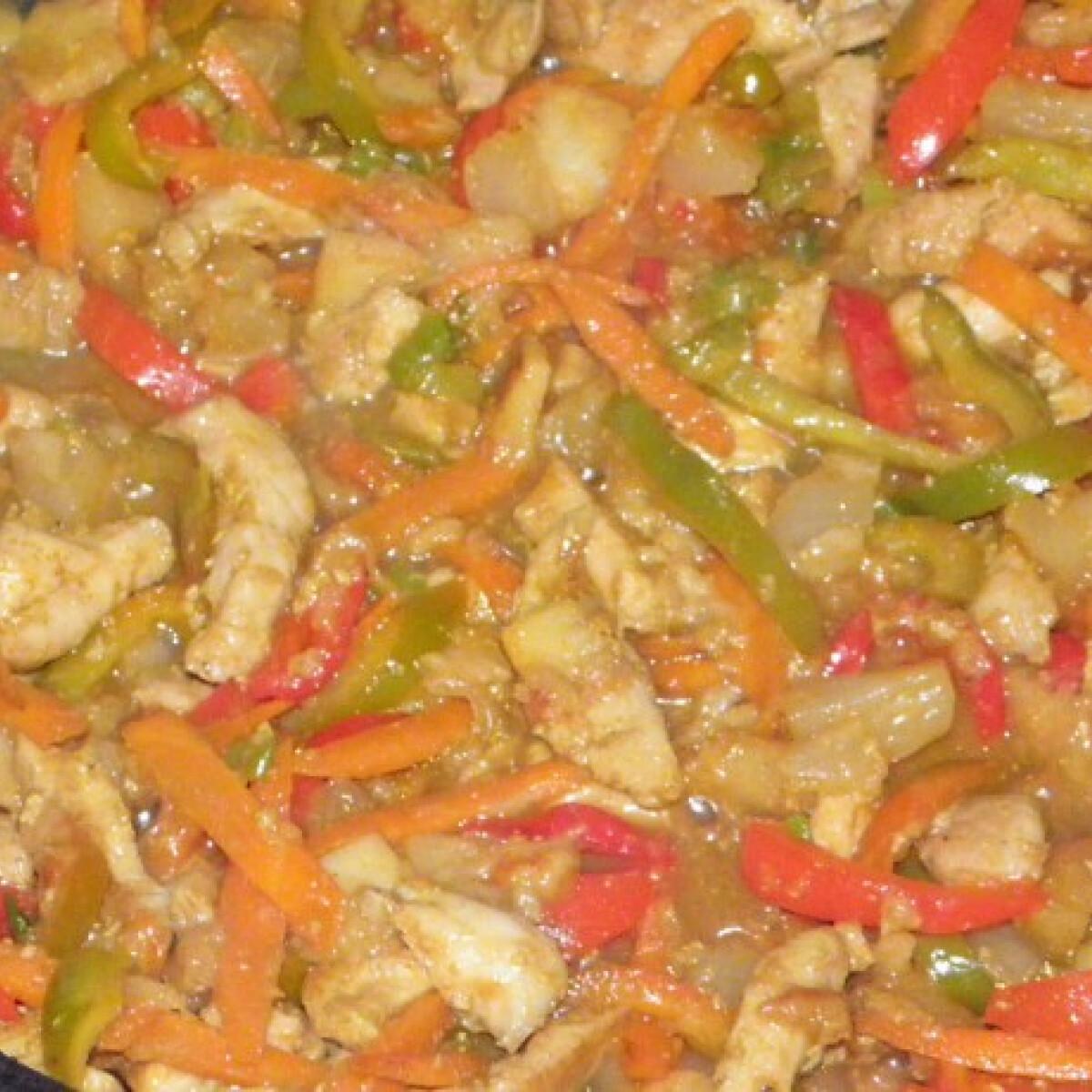 Ezen a képen: Csirkefalatok édes-savanyú módra