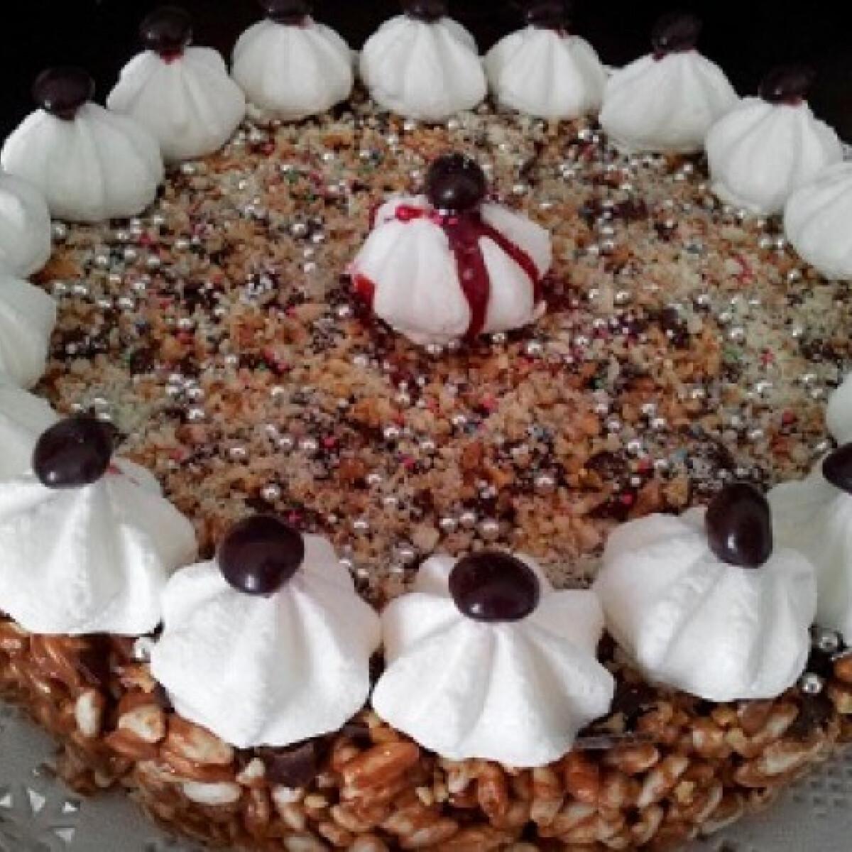 Mars csokis-rizses torta