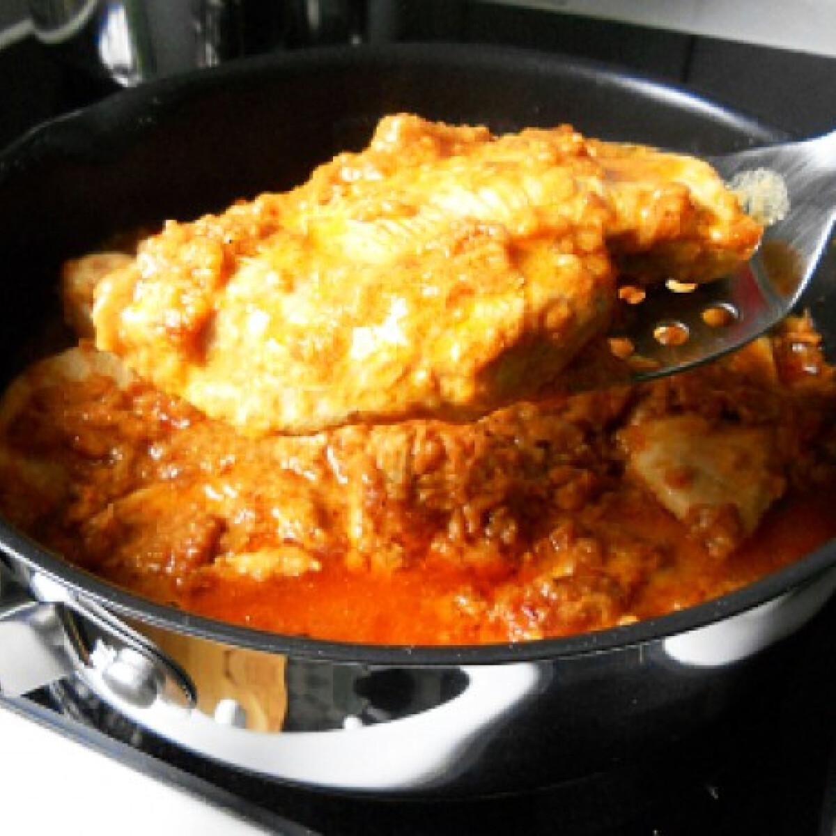 Ezen a képen: Csirkeflekken Tomatotree konyhájából