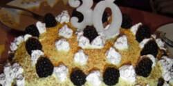 Madártej álom szülinapi torta
