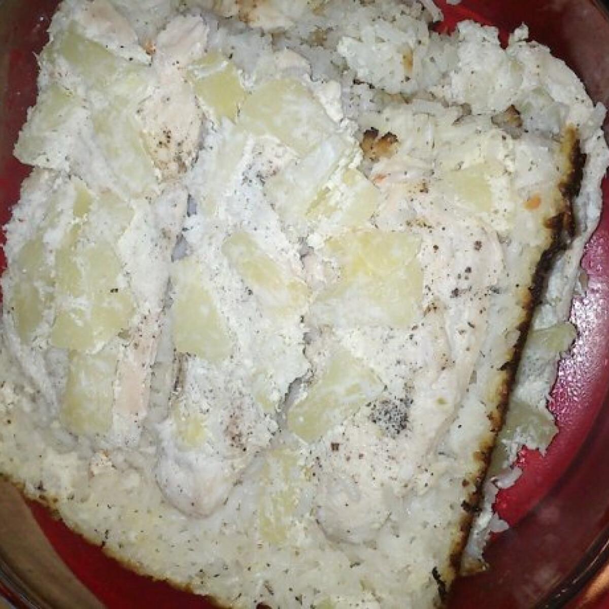 Tepsiben sült ananászos csirkemell rizzsel