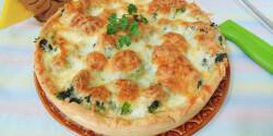 Gombás-brokkolis pite