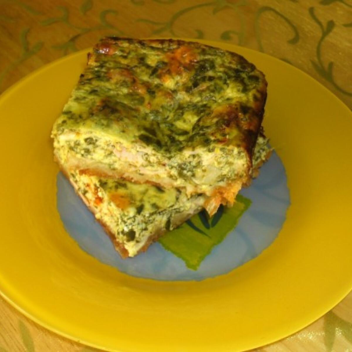 Spenótos quiche helena konyhájából