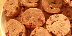 Gesztenyés-vörösáfonyás keksztekercs lekvárral