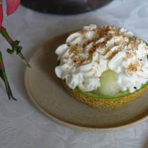 Sárgadinnye vaníliafagylalttal