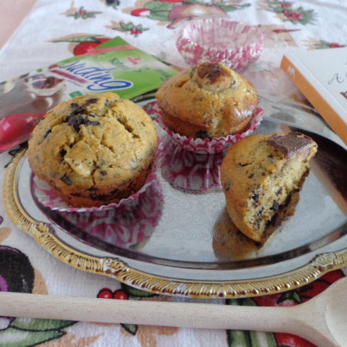 Ezen a képen: Körtés-csokis muffin egészségesen