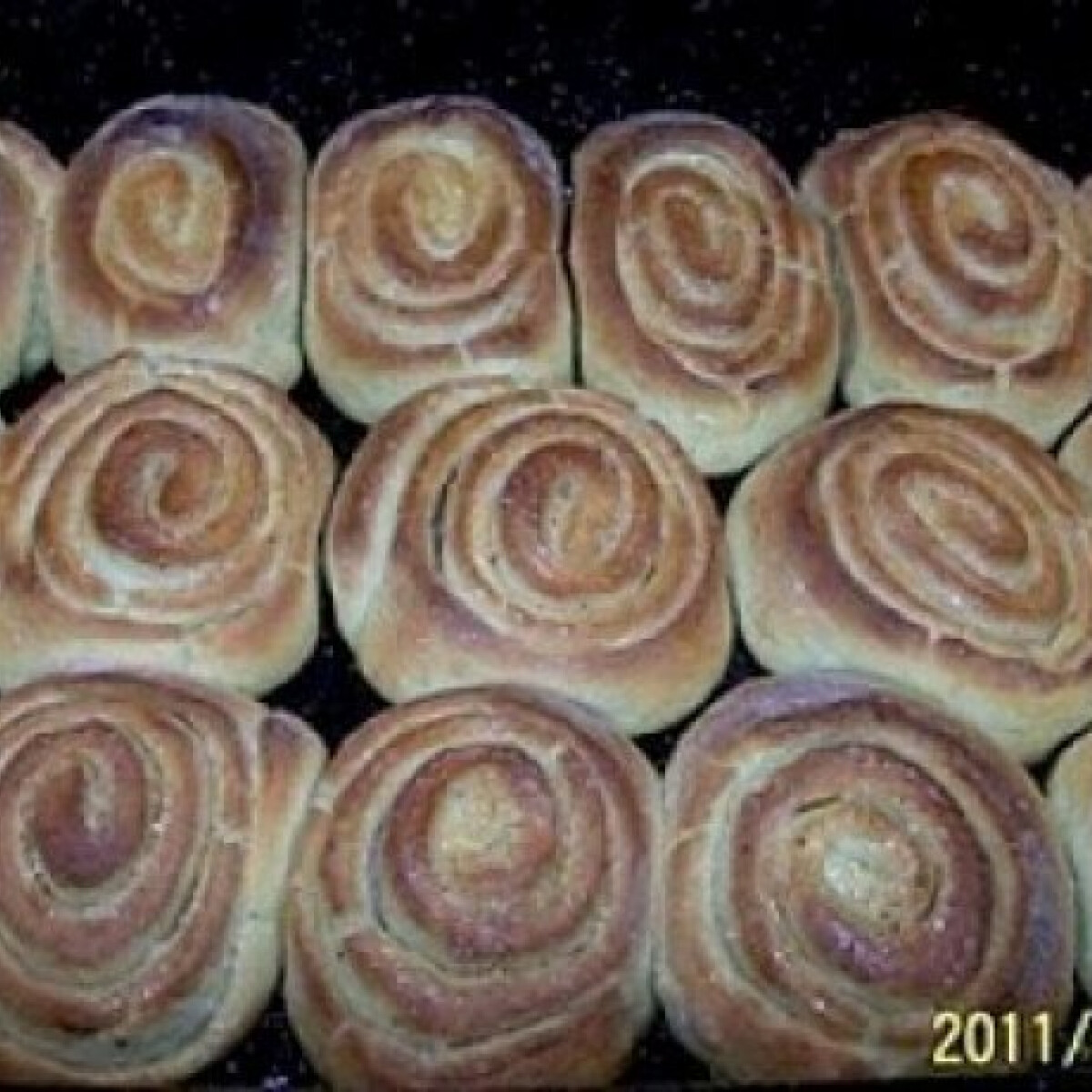 Ezen a képen: Karamelles-vaníliás csiga