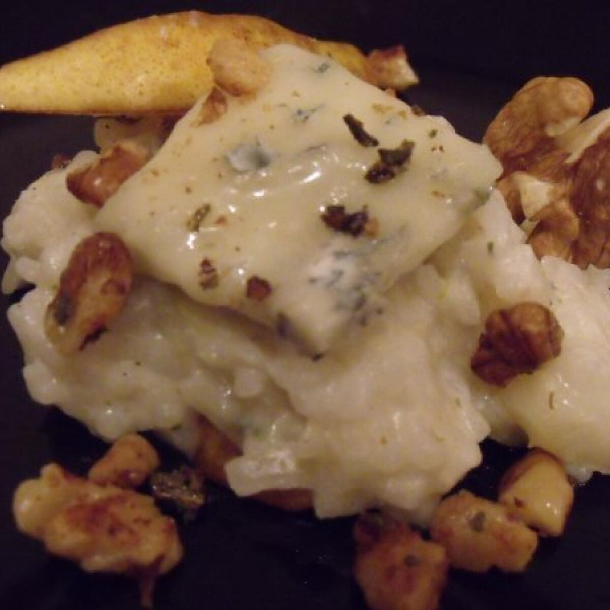 Ezen a képen: Gorgonzolás rizottó