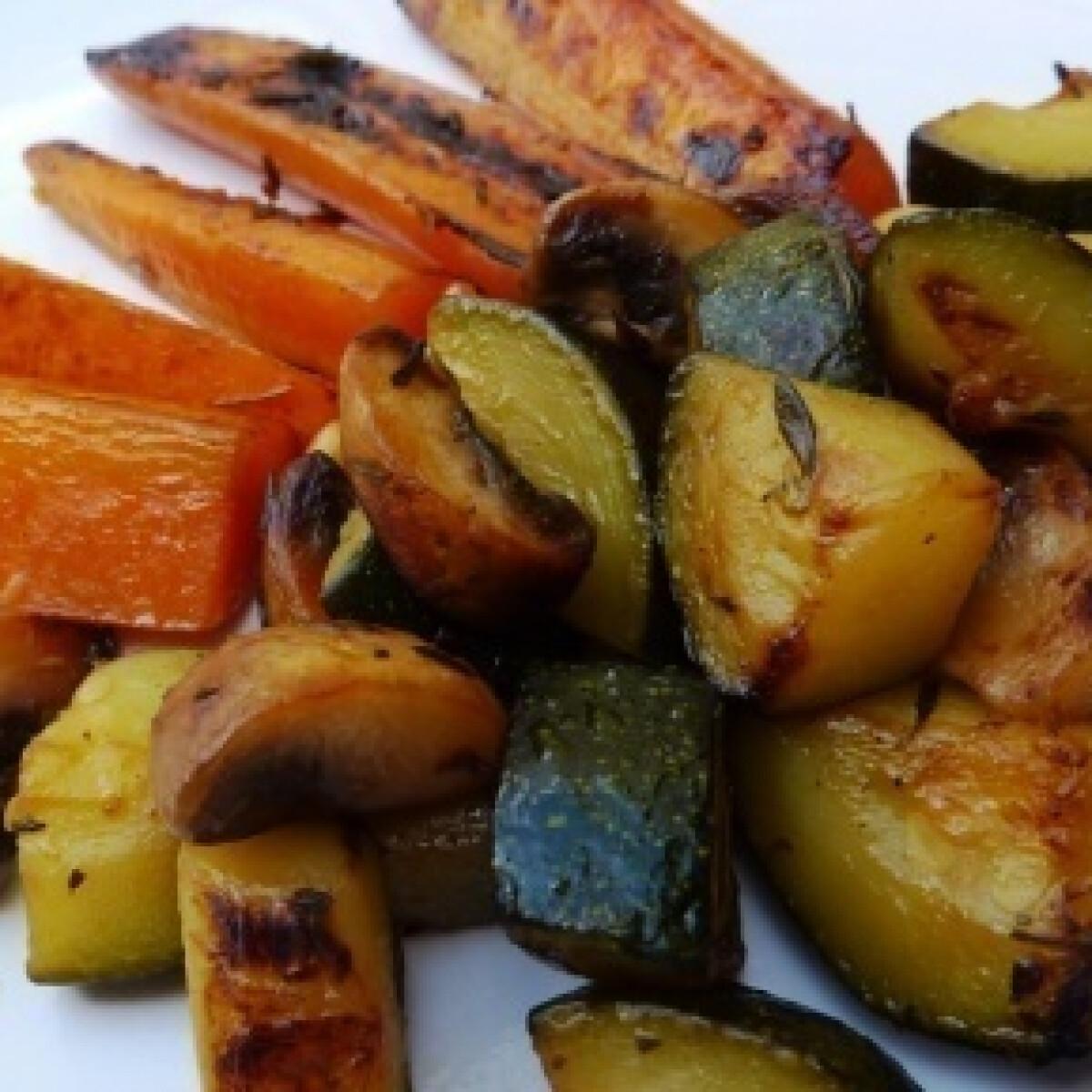 Borban párolt zöldségek