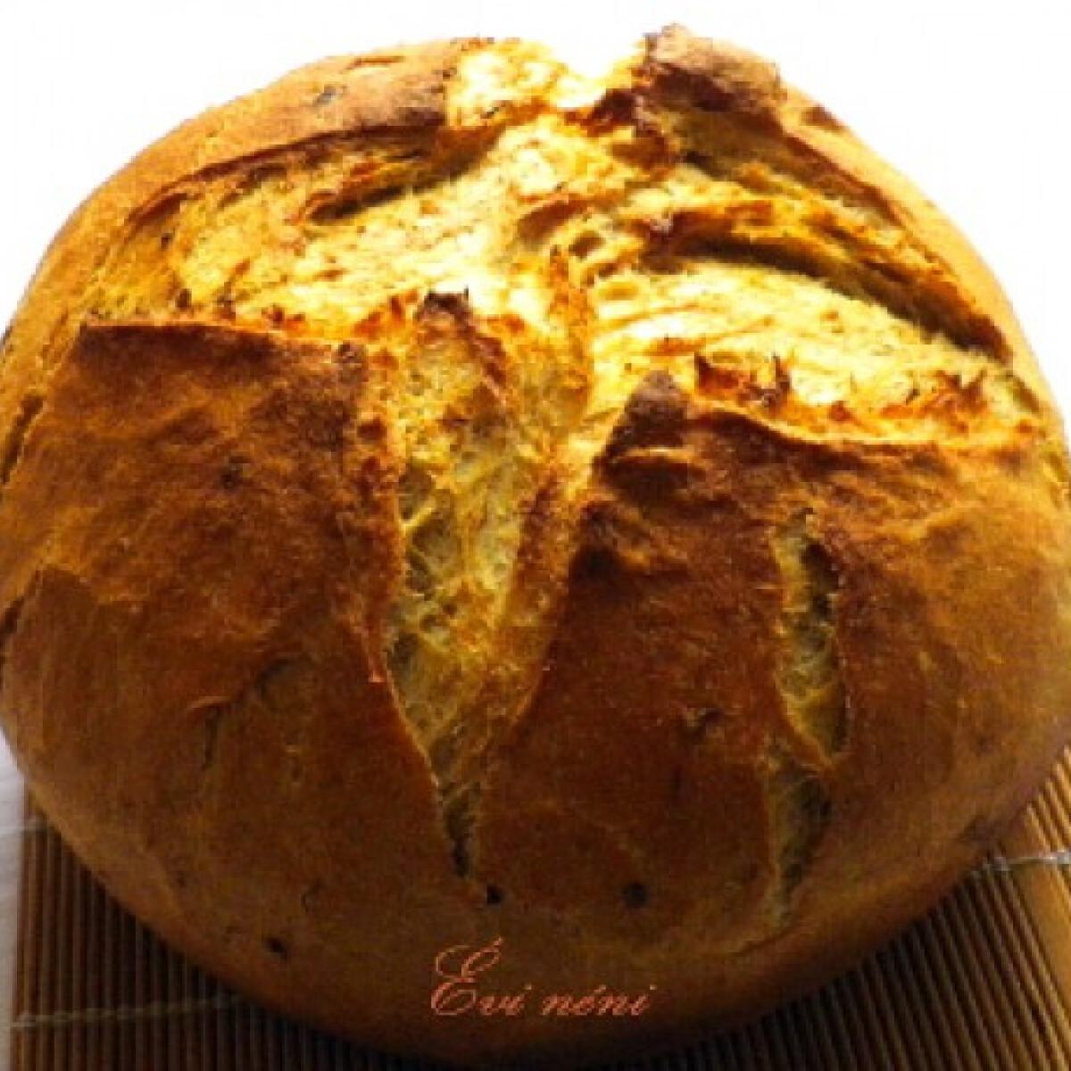 Ezen a képen: Hagymás kenyér Évi nénitől