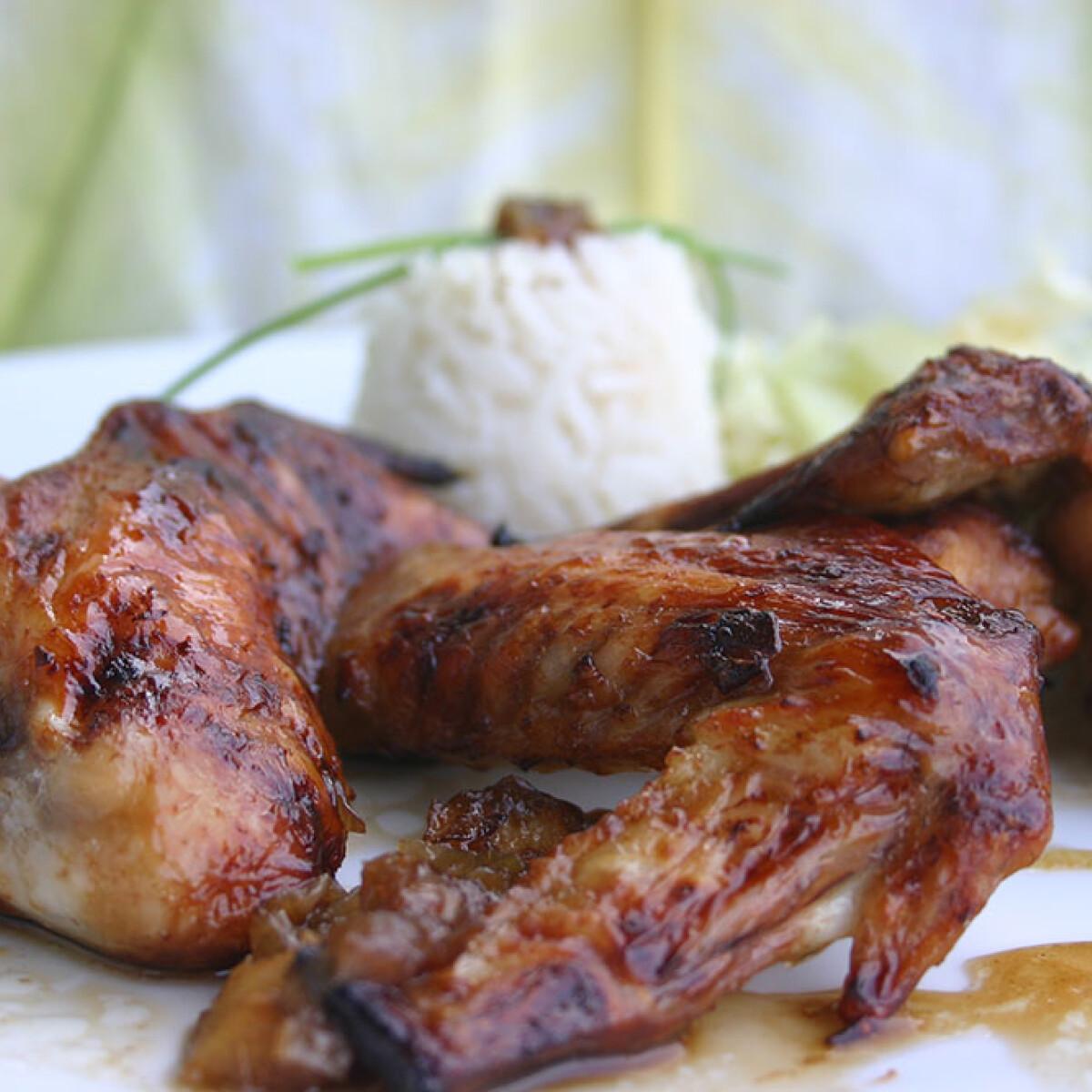 Ezen a képen: Szójaszószos csirkeszárnyak