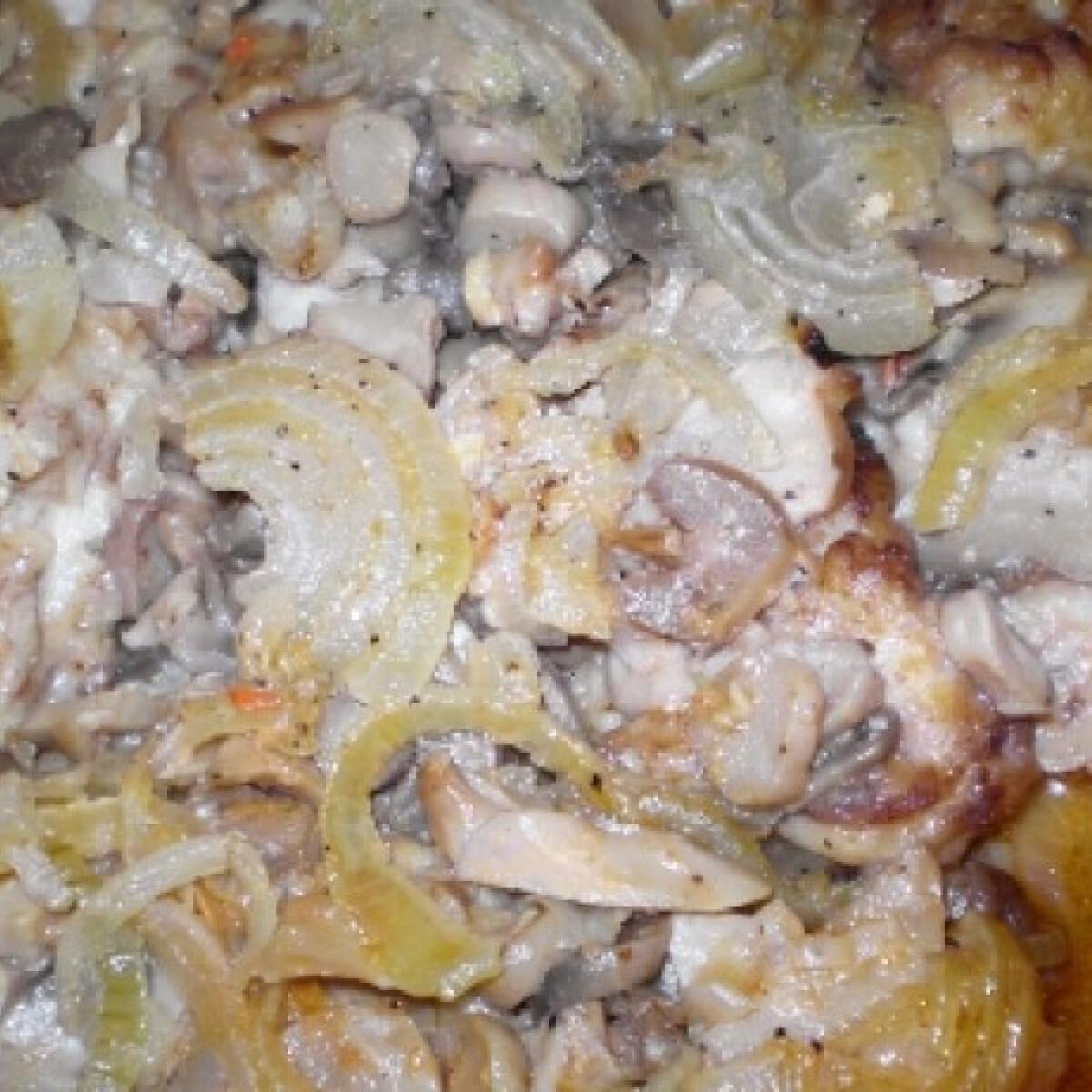 Gombás hús kifordított bundában
