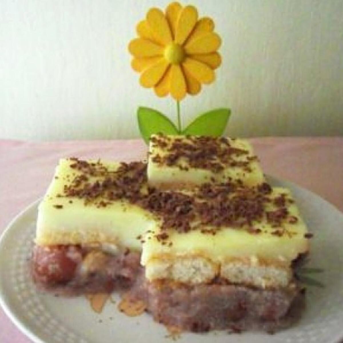 Cseresznyés-búzadarás süti