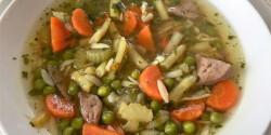 Zöldségleves pulykamájjal