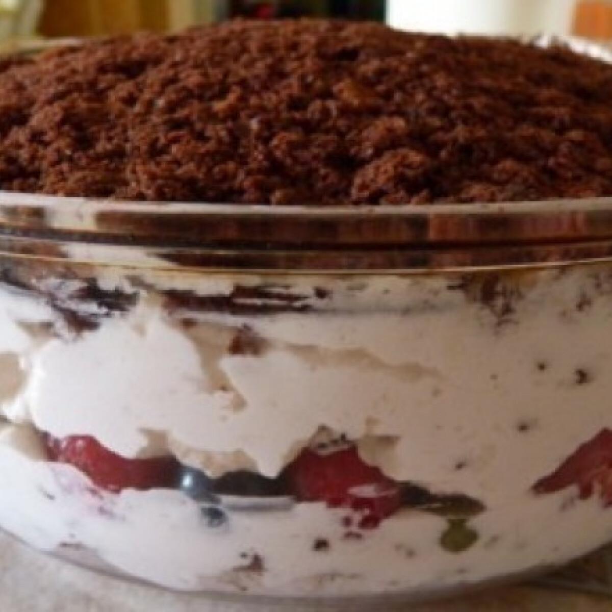 Ezen a képen: Vakondtúrás desszert