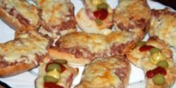 Klasszikus melegszendvics (húsos és sonkás)