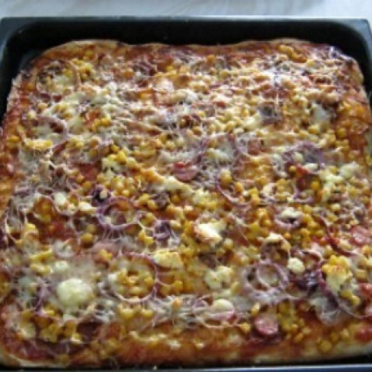 Ezen a képen: Pizza 23. - feta sajtos, lilahagymás