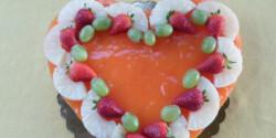 Gyümölcsös bolero torta