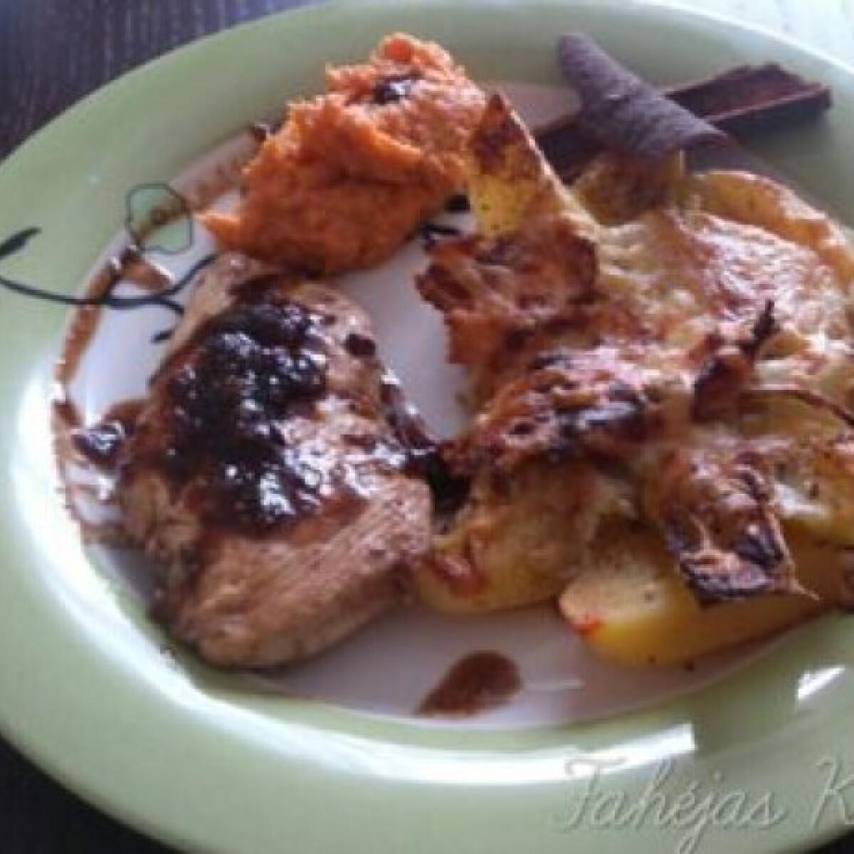 Ezen a képen: Balzsamecetes csirkemell