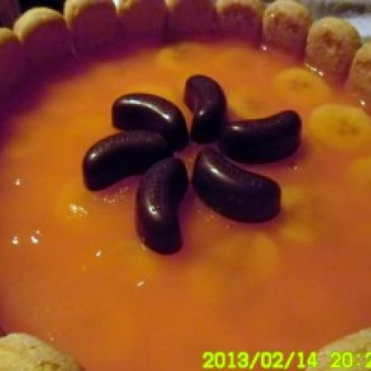 Ezen a képen: Banános-mandarinos túrótorta