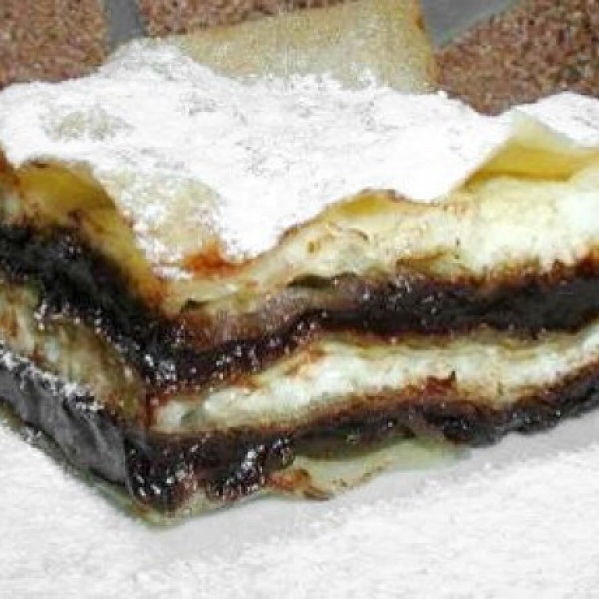 Ezen a képen: Csokikrémes-túrós rakott rétes