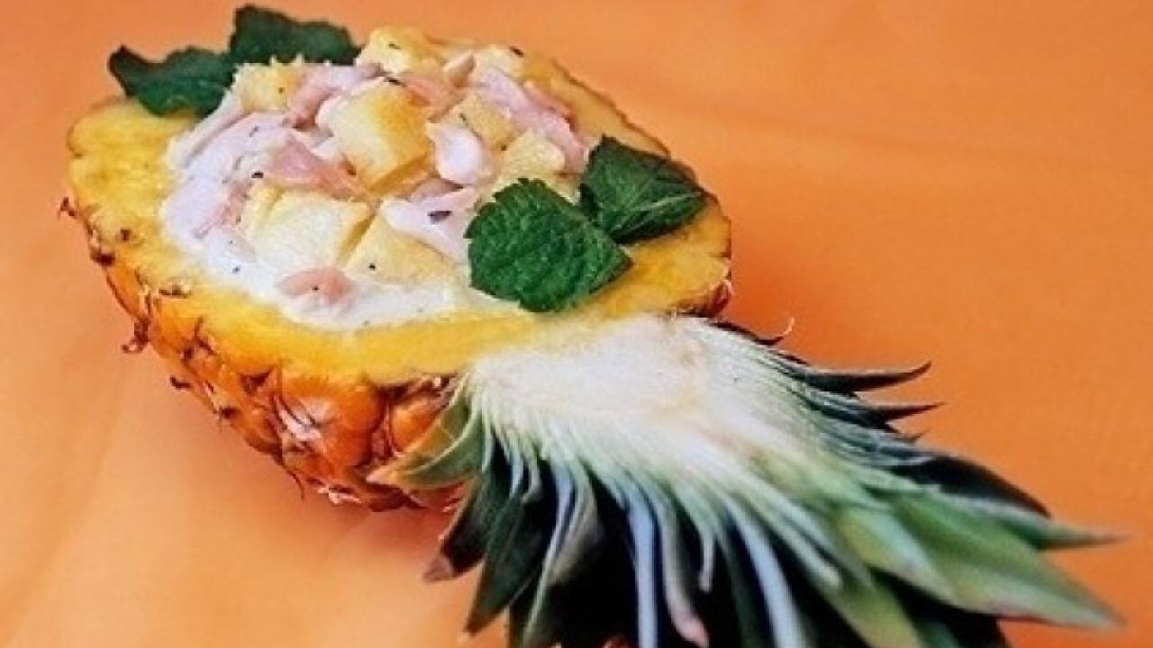Halsaláta ananásszal
