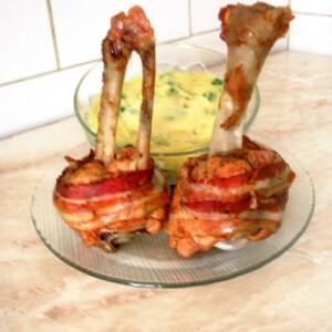 Sült baconös pulykabuzogány Gabystól