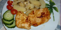 Mustáros pácolt csirkemell újkrumplival