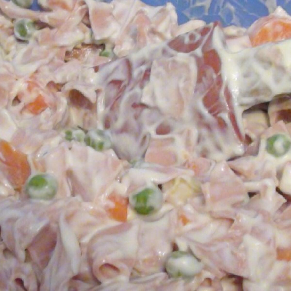 Ezen a képen: Szalámis saláta