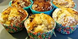 Pikáns szezámos-körtés muffin egészségesen