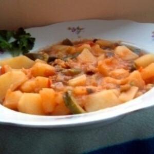 Zöldséges paprikás krumpli