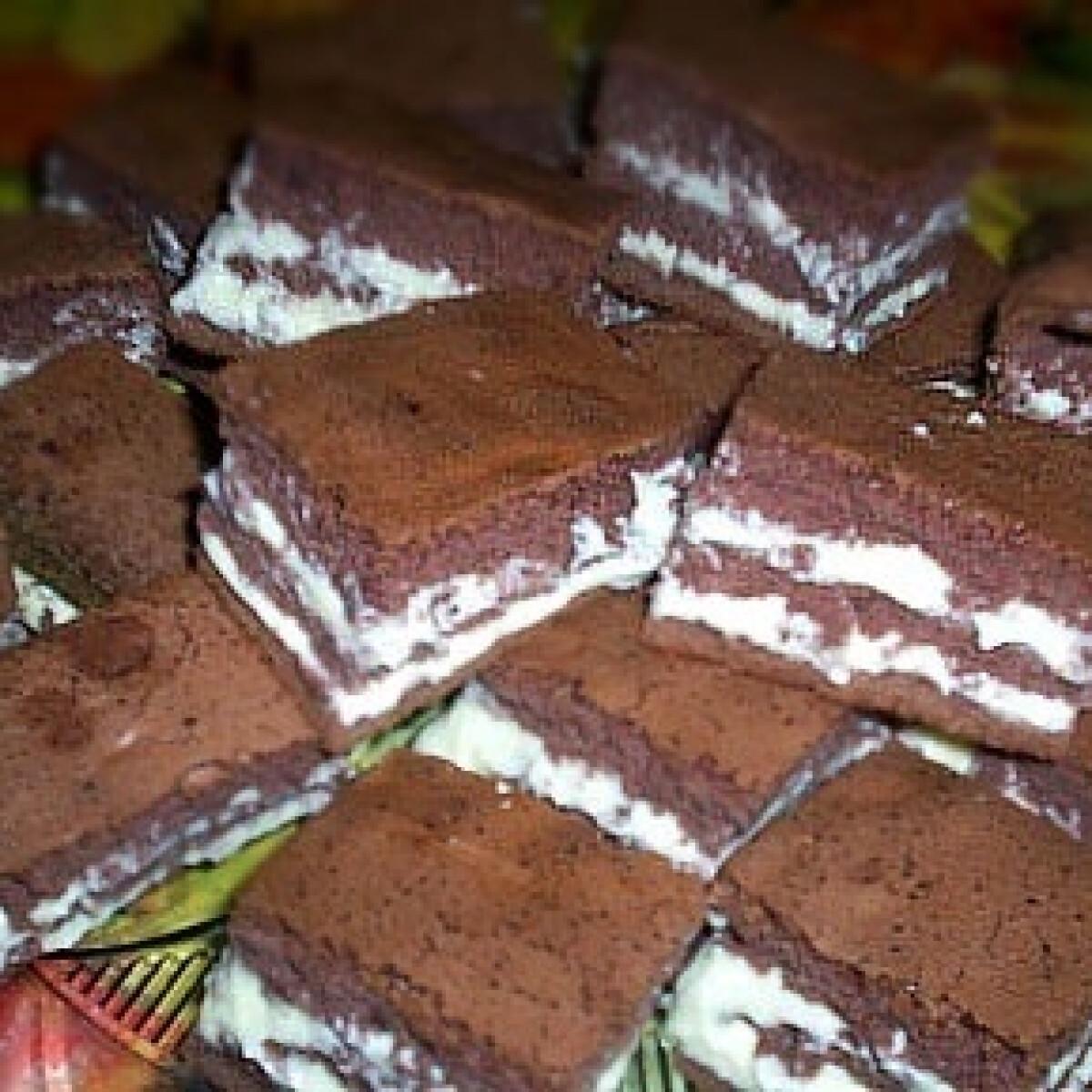 Ezen a képen: Csokoládés-vaníliás kocka