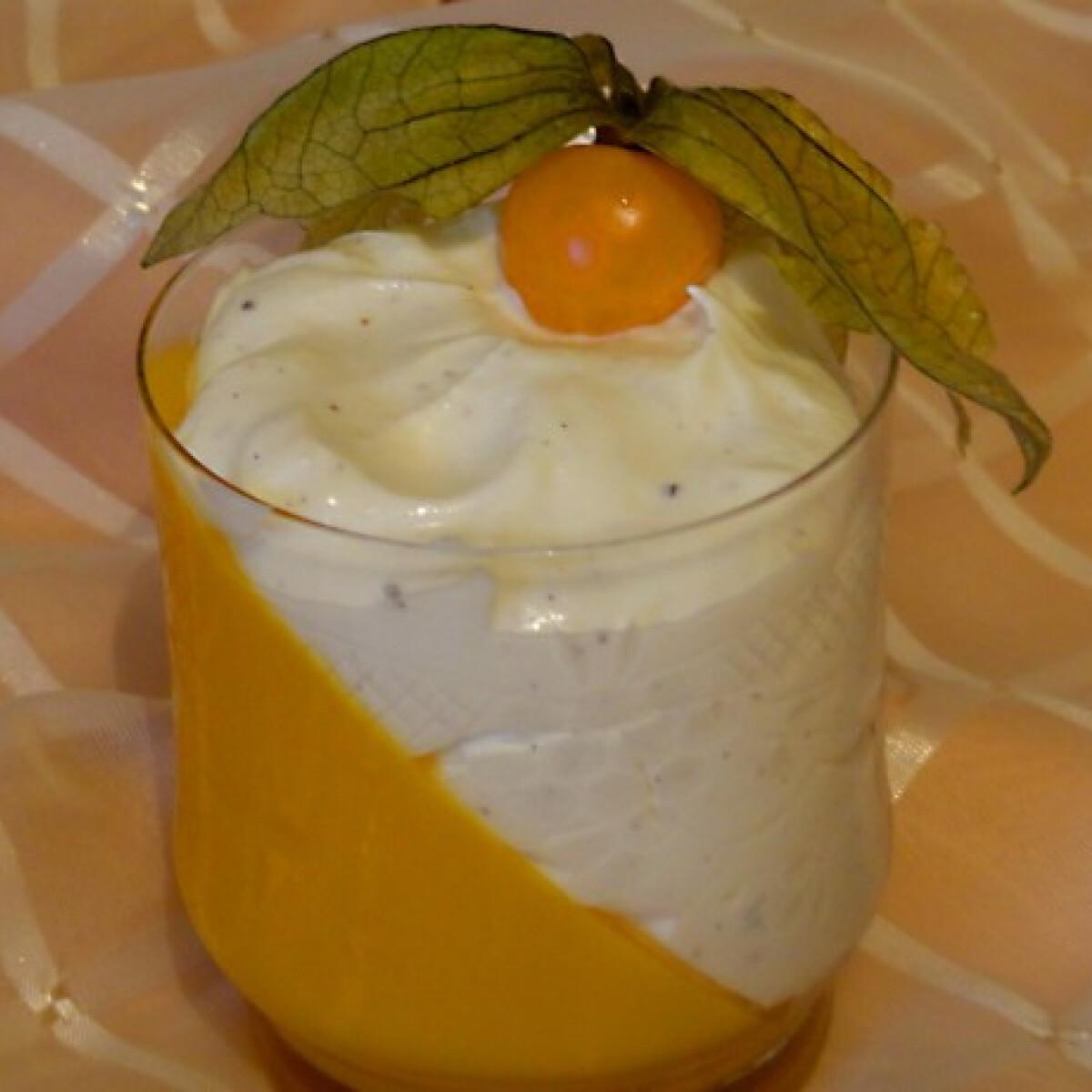 Ezen a képen: Mangókocsonya mascarponekrémmel