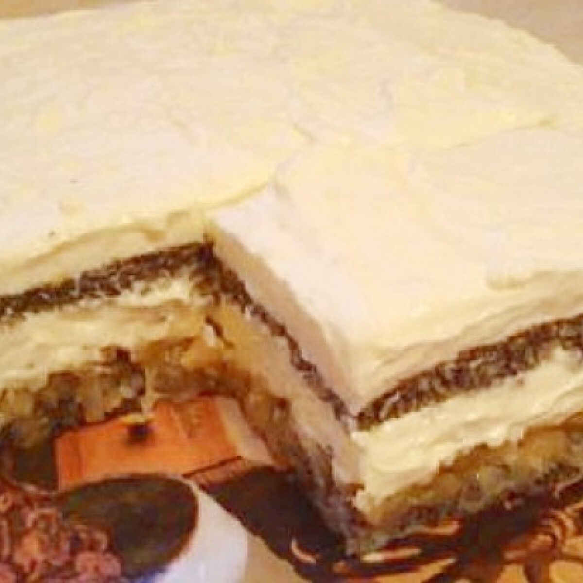 Ezen a képen: Almás-mákos-mascarponés finomság