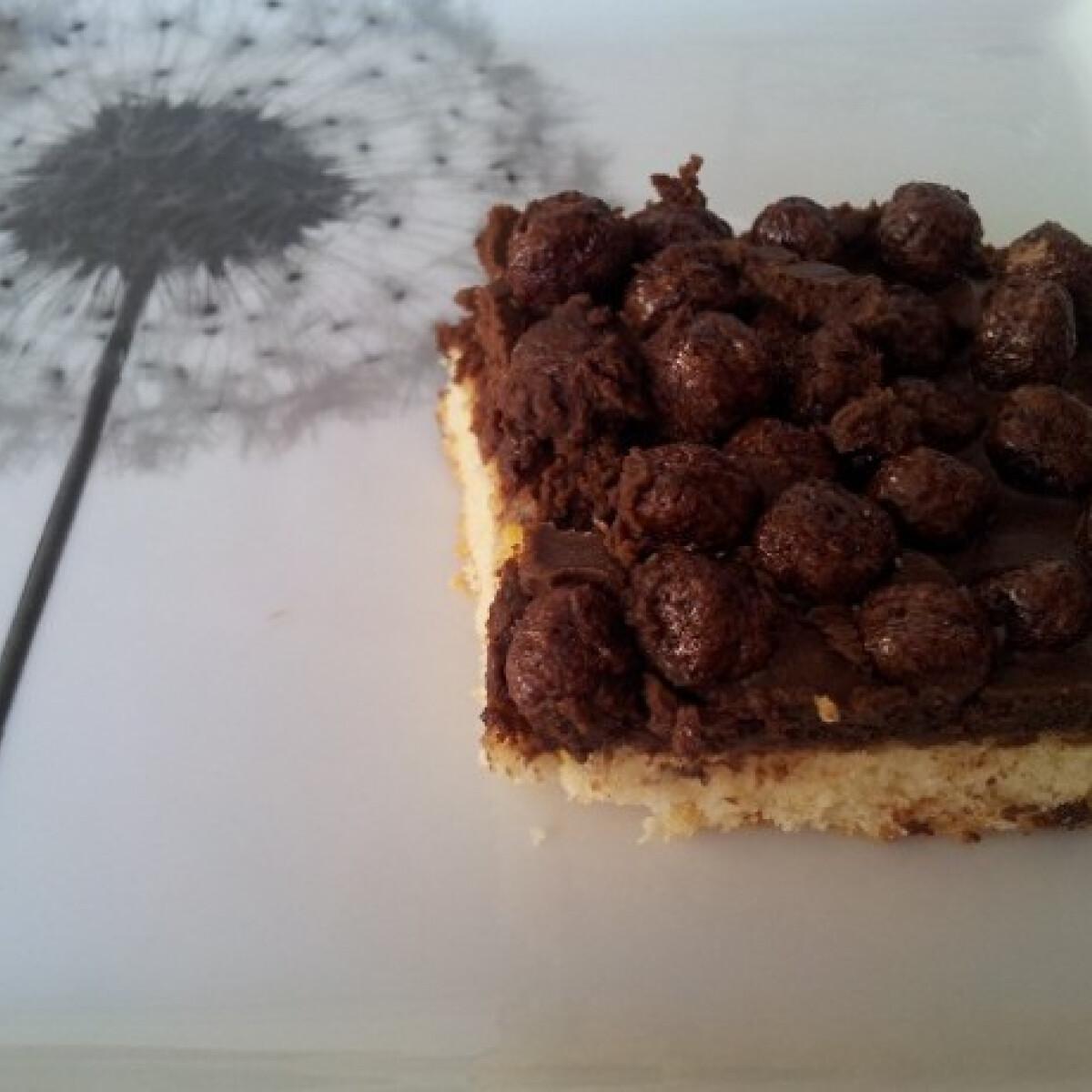 Ezen a képen: Csokikrémes gabonagolyós süti