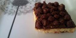 Csokikrémes gabonagolyós süti