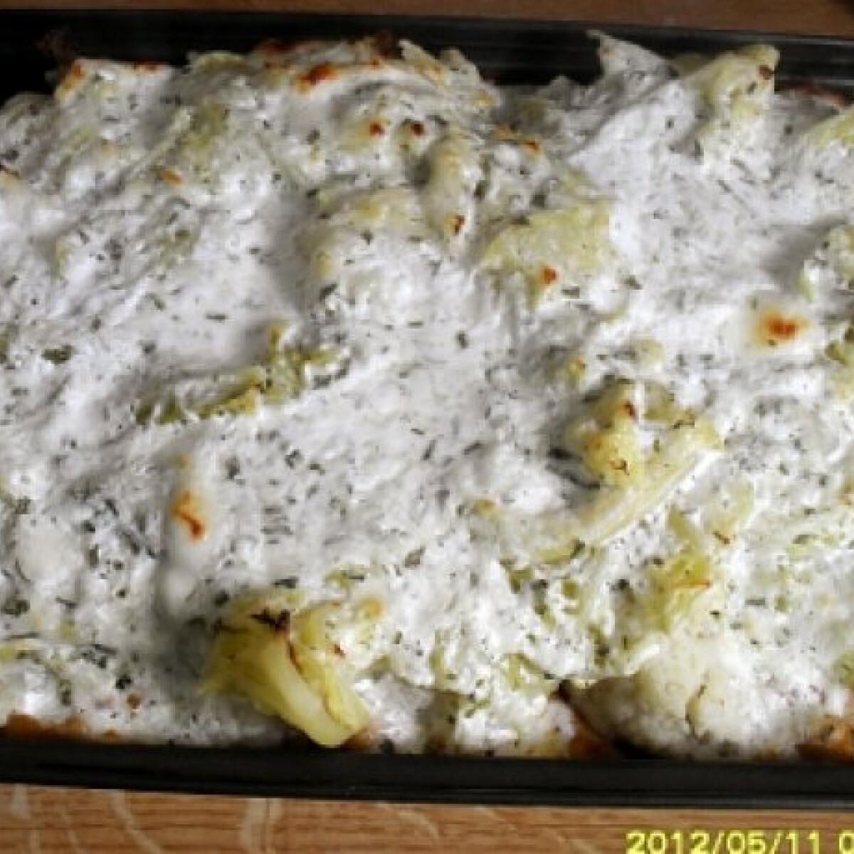Ezen a képen: Rakott tészta zöldséges-sajtosan