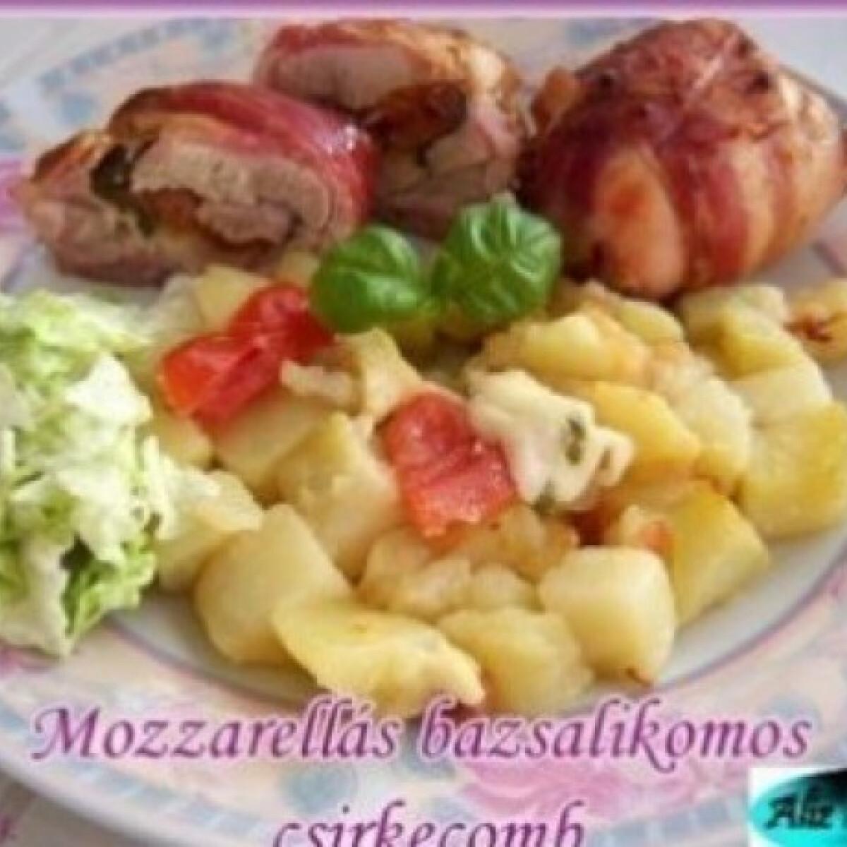 Ezen a képen: Mozzarellás-bazsalikomos csirkecomb