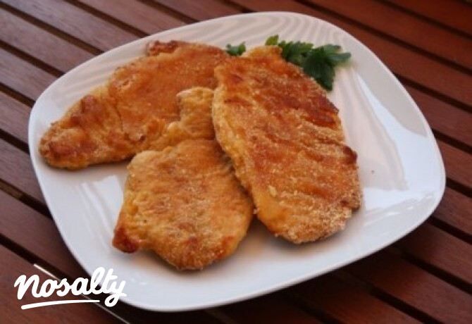 Ezen a képen: Sütőben sült rántott hús