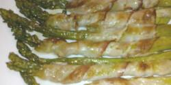 Spárga baconnel