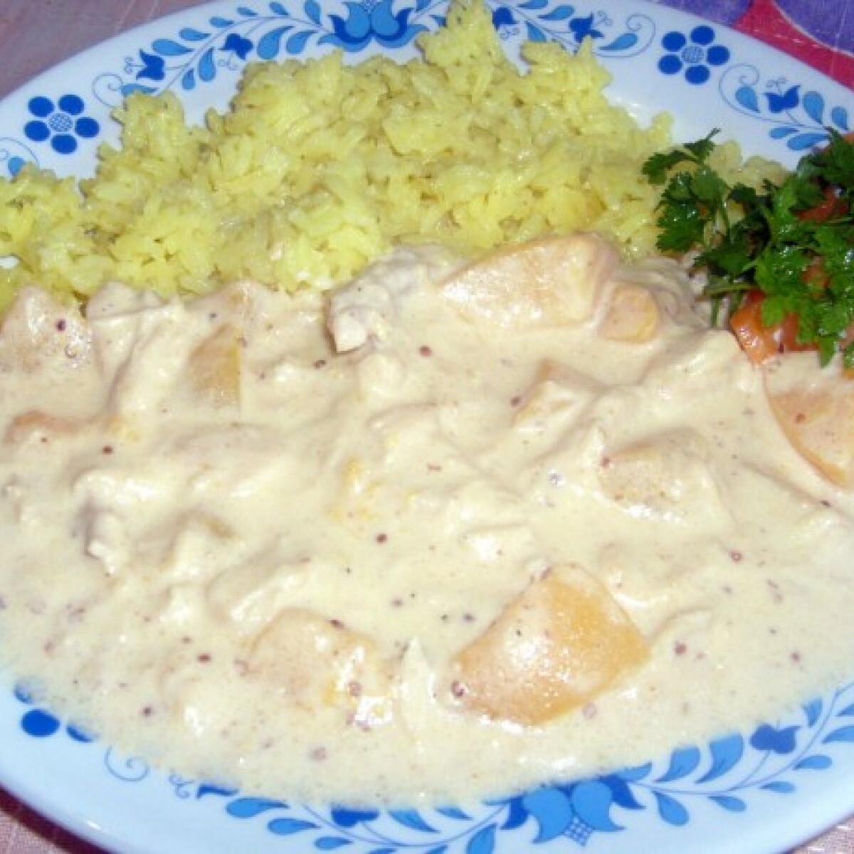 Őszibarackos csirkemell hot curryvel