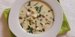 Citromos-tejszínes gyors csirkebecsinált-leves