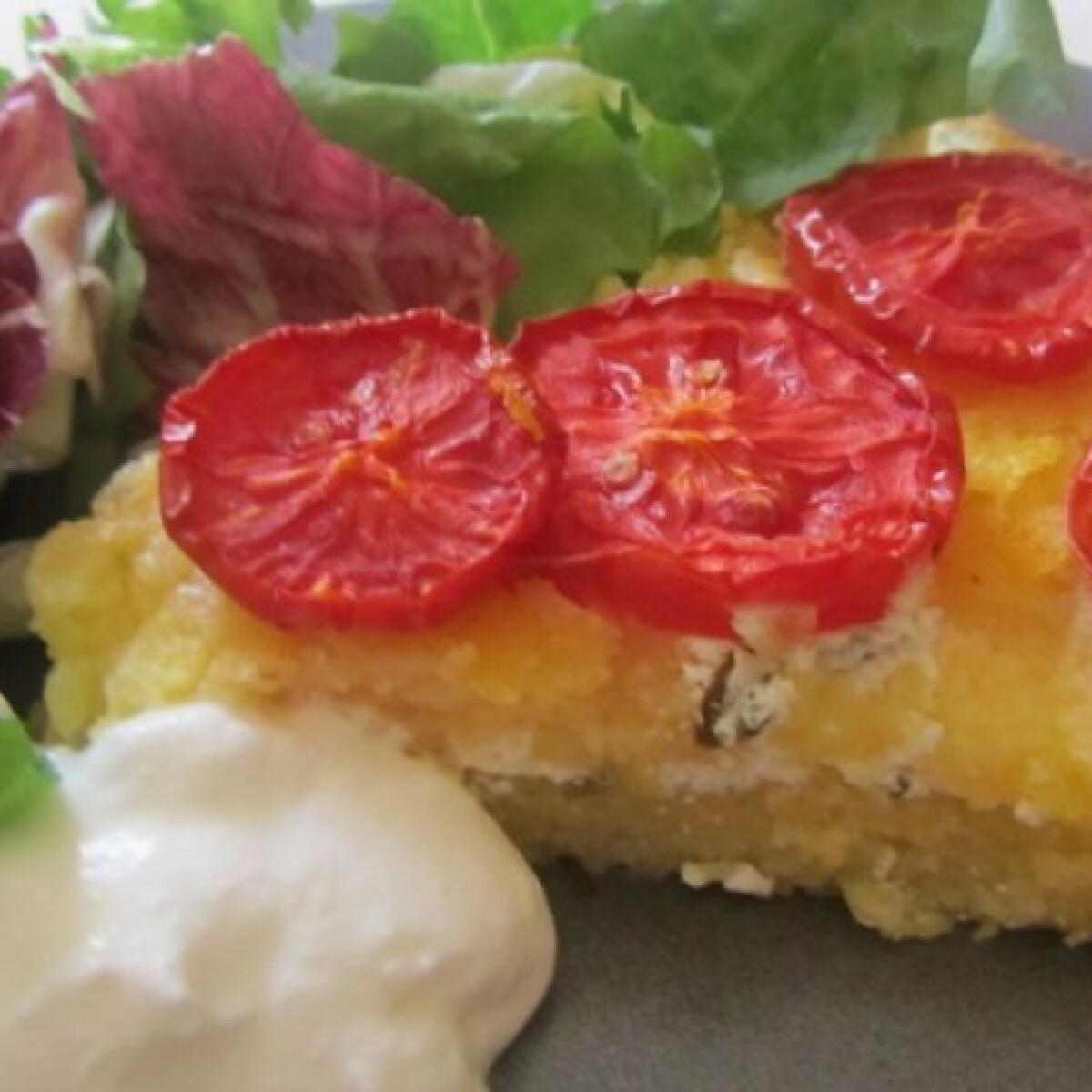 Ezen a képen: Sült polenta túróval töltve