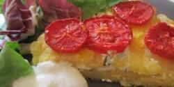 Sült polenta túróval töltve