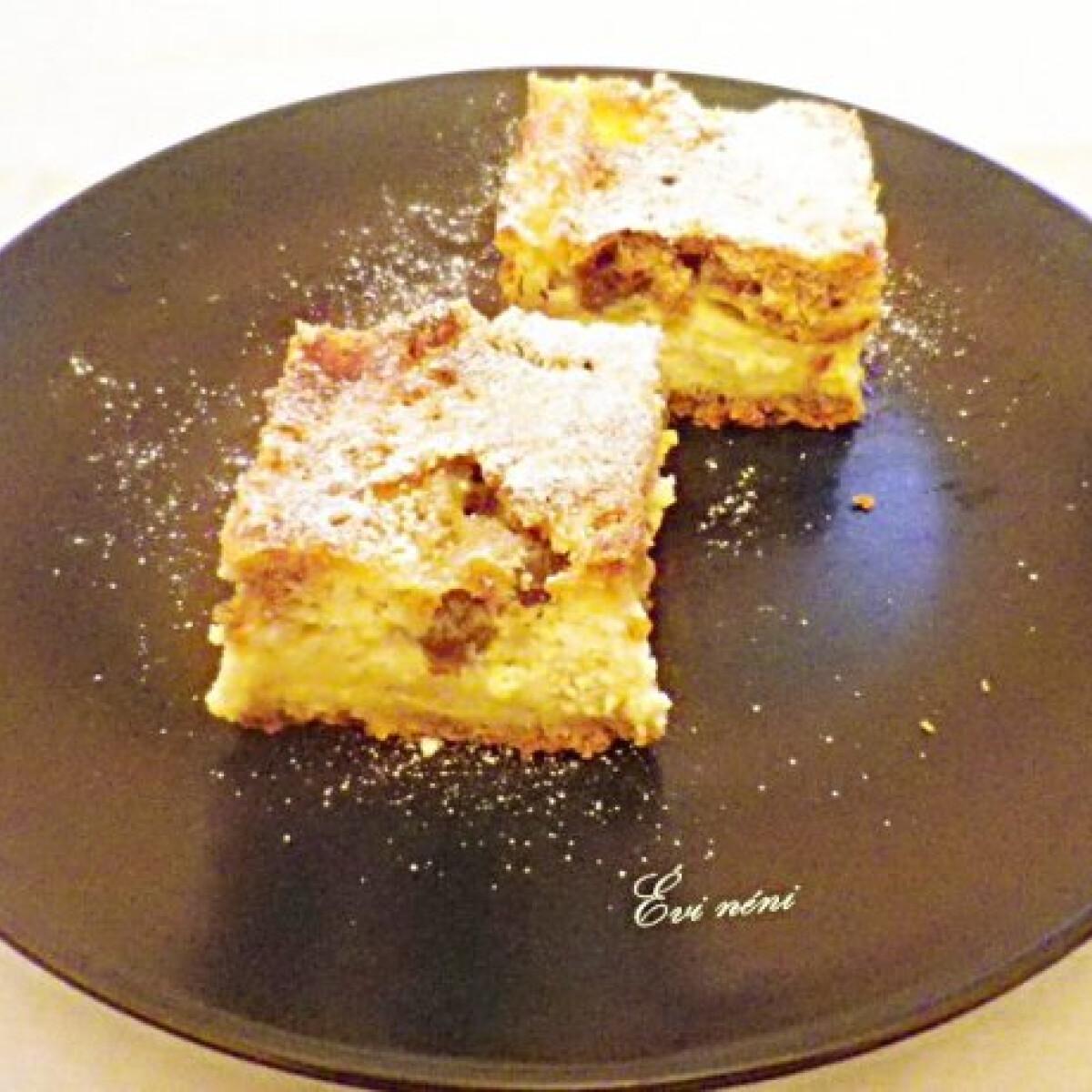 Ezen a képen: Lusta asszony túrós pitéje