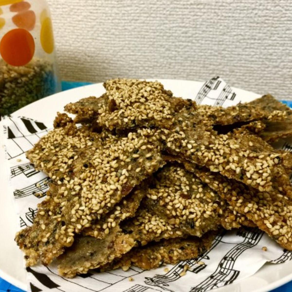 Ezen a képen: Gluténmentes magos-mandulás kréker