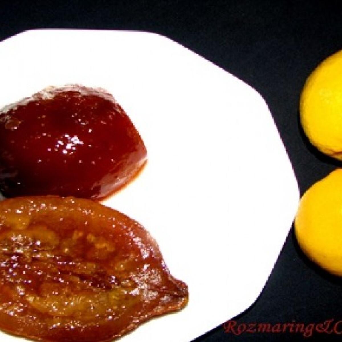 Ezen a képen: Kandírozott citrom dél-olasz módra