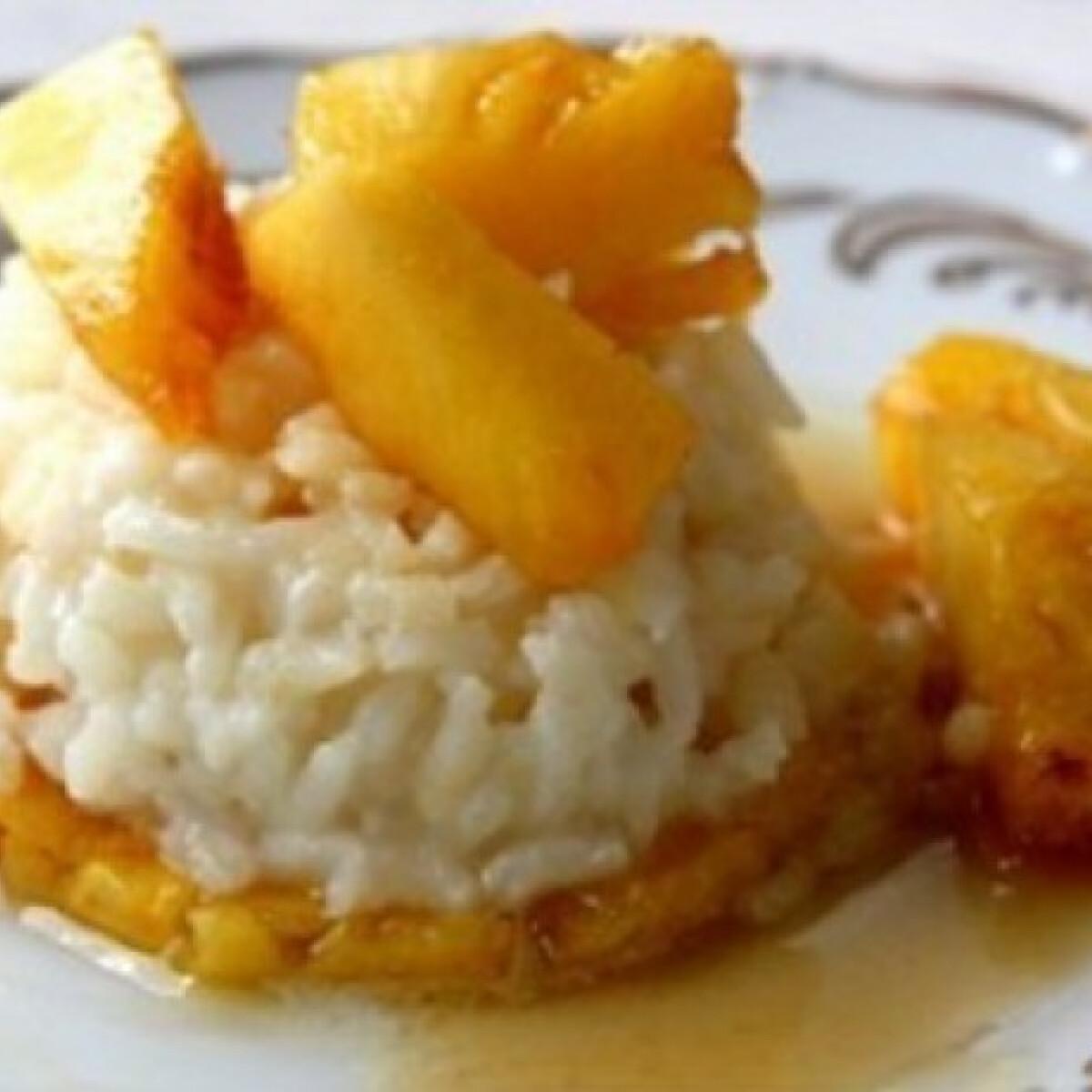Ezen a képen: Karamellás-ananászos tejberizs