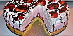 Epres-joghurtos torta csokiöntettel